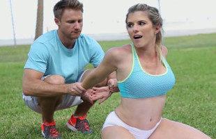 Image Cory Chase y su entrenador personal sudan juntos con sexo duro